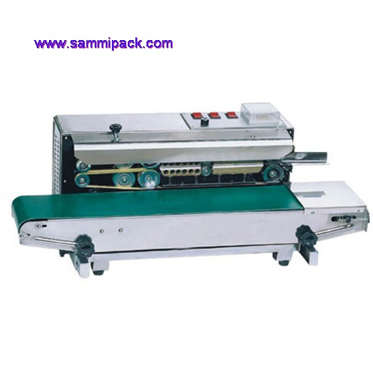 High quality Stainless steel Continous band sealer/plastic bag sealing machine