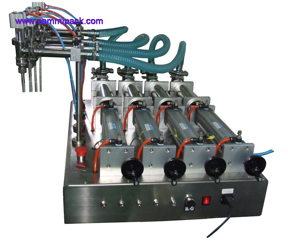 4 Heads liquid filling machine